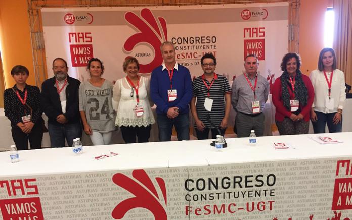 El Congreso Constituyente de FeSMC-UGT Asturias elige a Fermín de Con como secretario general con el 56% de los votos